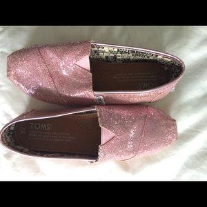 Toms Shoes - Toms Ballet Pink Glitter Shoes